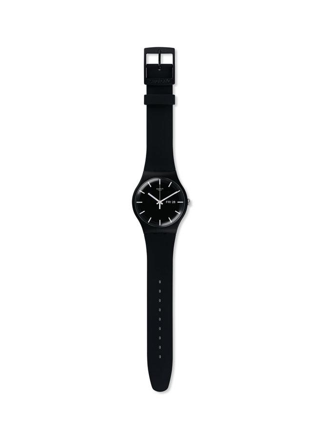 Swatch mono fond et bracelet silicone noir 41mm