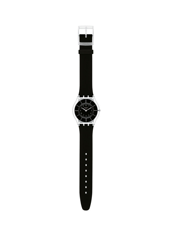 Swatch fond noir bracelet silicone noir 34mm