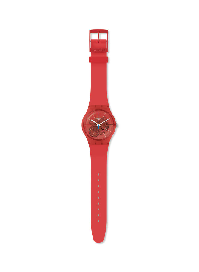 Swatch bloody fond rouge orange bracelet silicone rouge 41mm