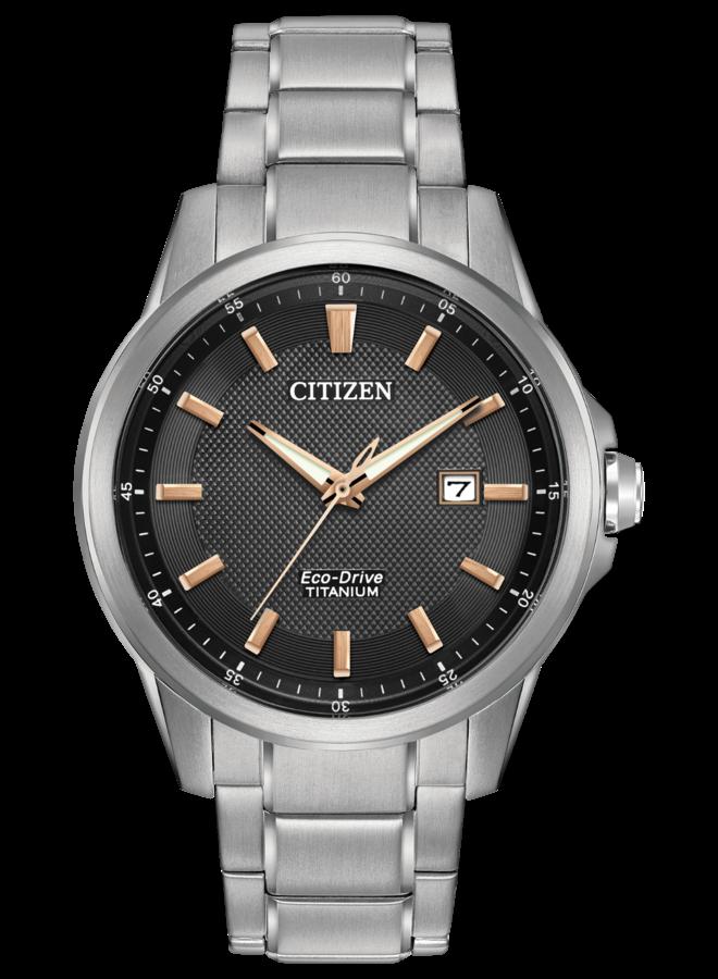Citizen Eco-drive titanium fond noir 42mm