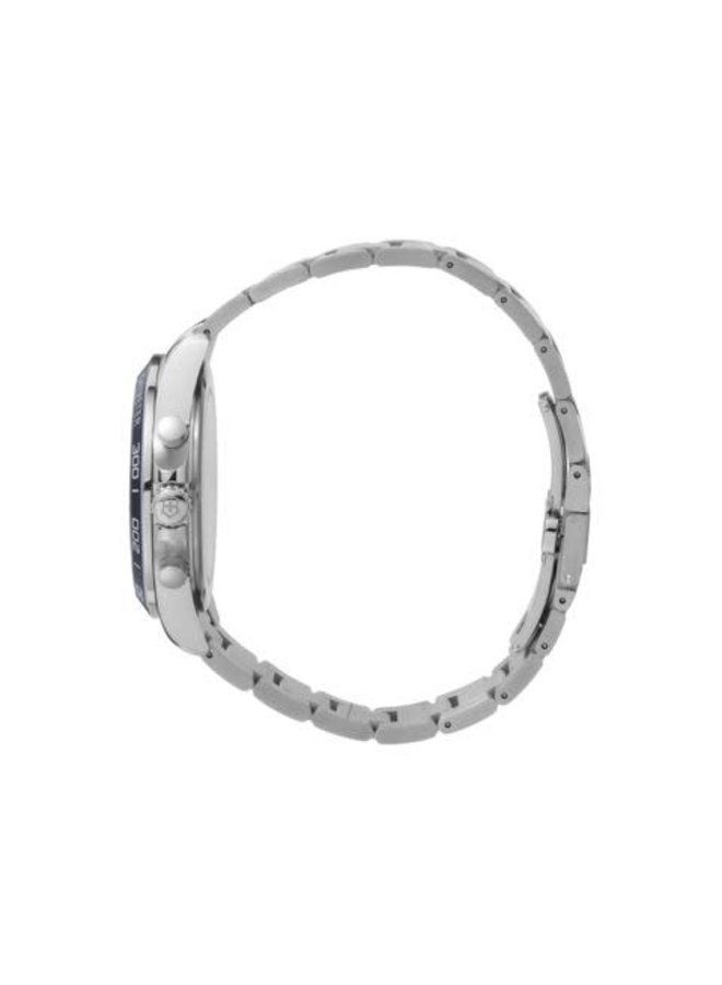 Victorinox swiss army acier fond bleu chronographe  21mm