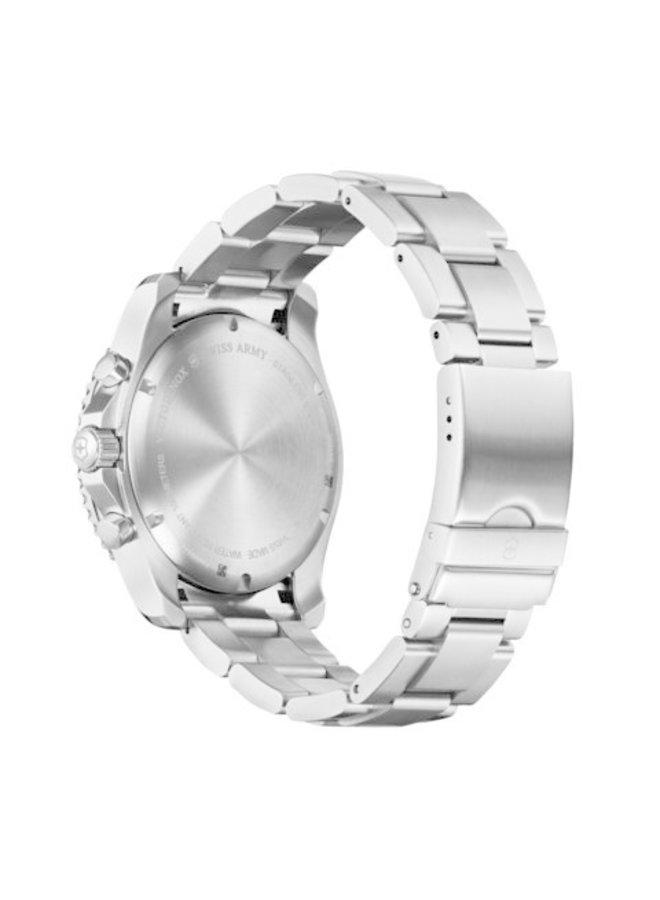 Victorinox swiss army maverick acier fond noir chronographe 22mm