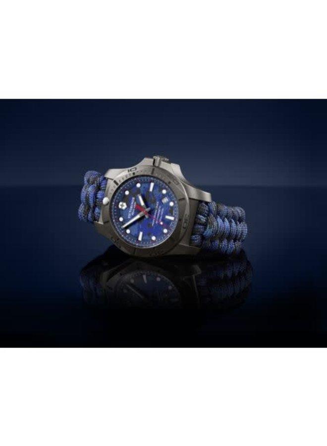 Victorinox swiss army professional driver titanium fond camouflage bleu 45mm