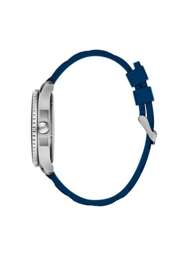 Victorinox swiss army maverick acier fond bleu bracelet caoutchouc bleu  43mm