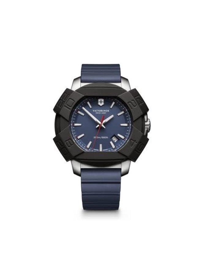 Victorinox swiss army acier fond bleu bracelet caoutchouc bleu 43mm