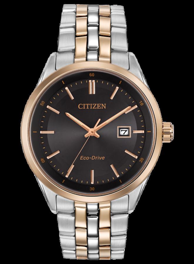 Citizen Eco-drive acier 2 tons fond noir 41mm