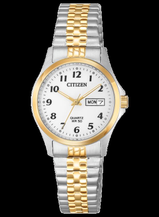 Citizen quartz acier 2 tons bracelet extensible 26mm