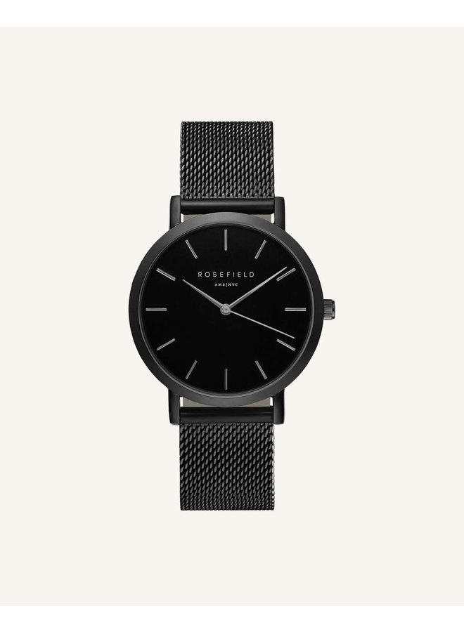 Rosefield acier noir bracelet mèche 26mm