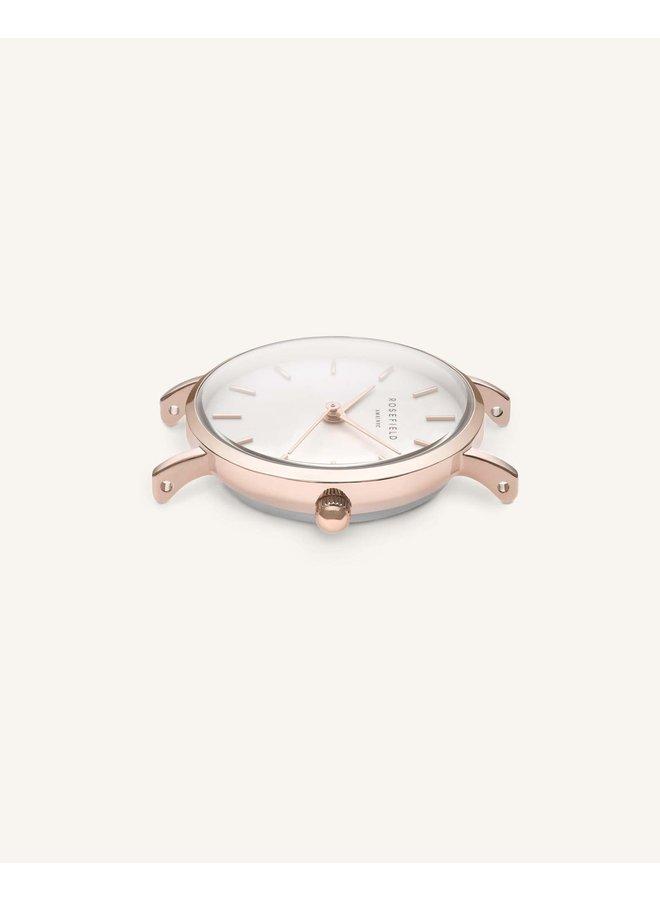 Rosefield acier rosé bracelet cuir rose 33mm