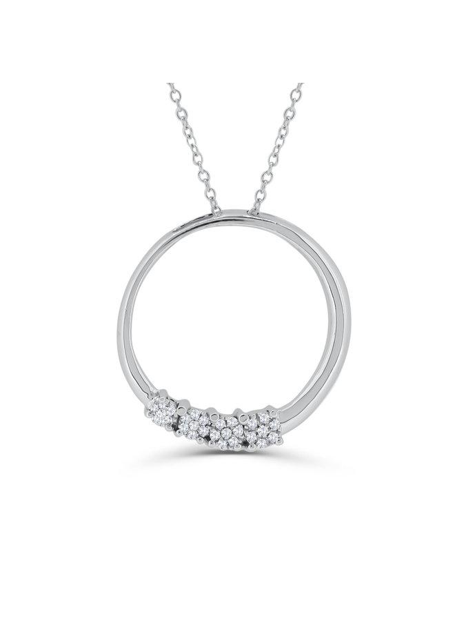 Ensemble or blanc 10k avec diamants