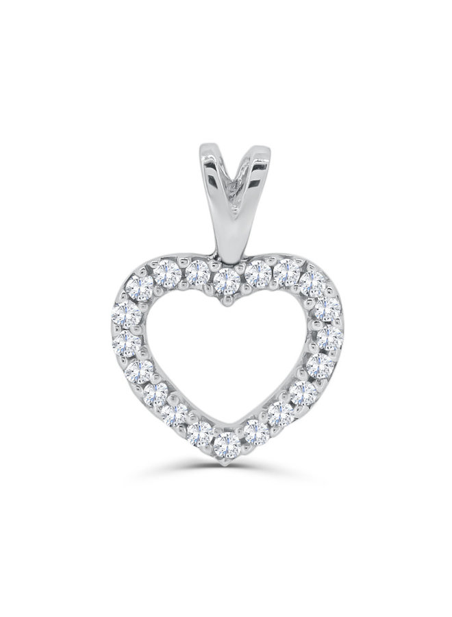Pendentif en or blanc 10k avec diamants
