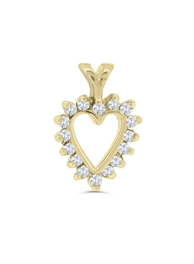 Pendentif or jaune 10k à diamants
