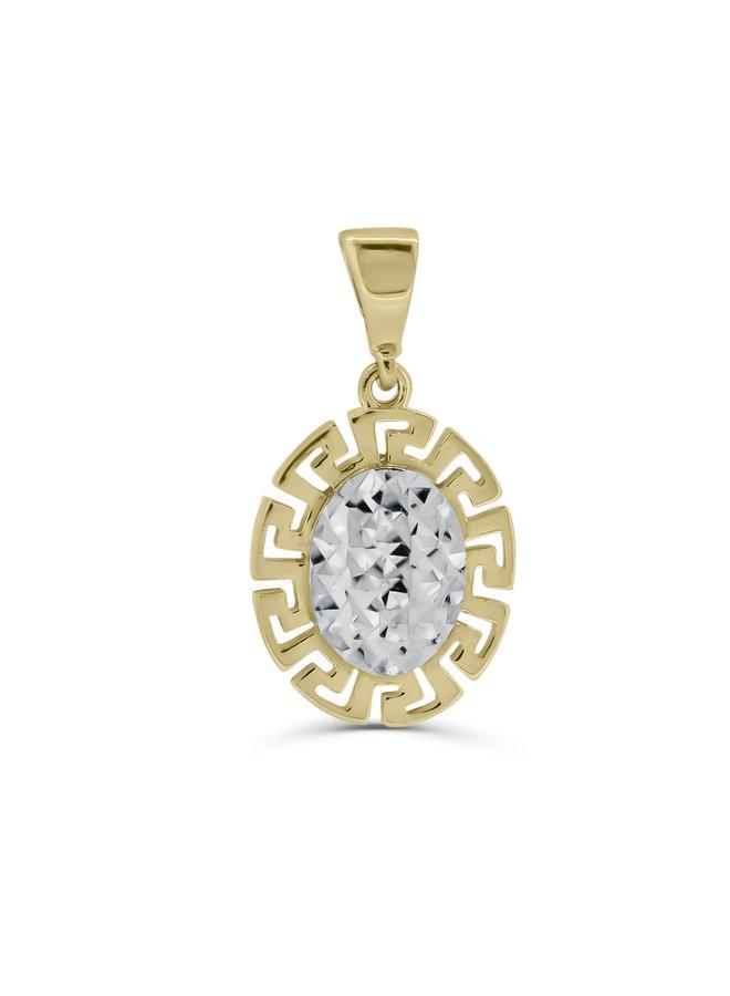 Pendentif Versace 2 tons 10k diamond cut