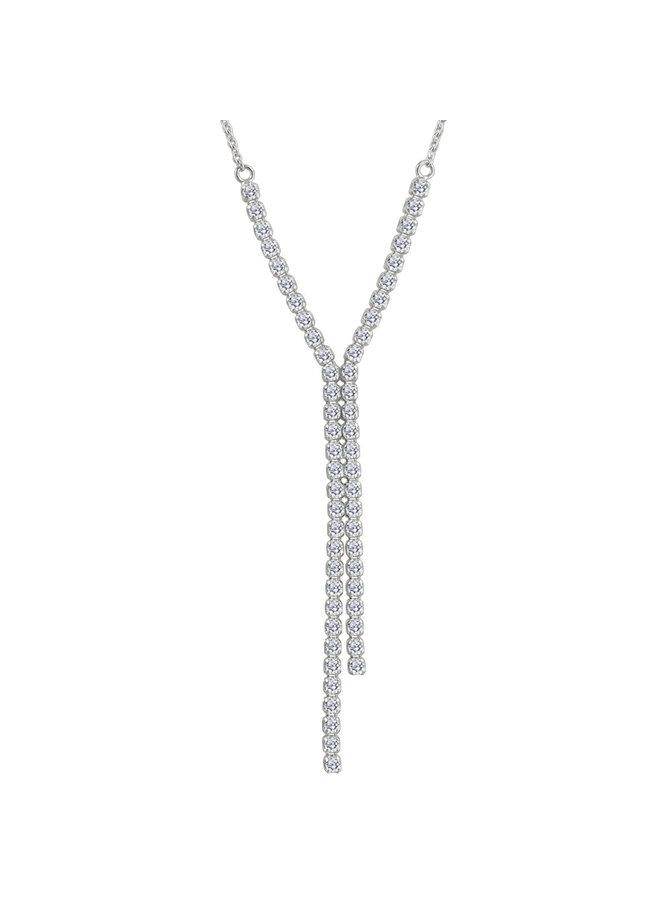 Collier 14K blanc 18'' diamant 0.75ct I GH