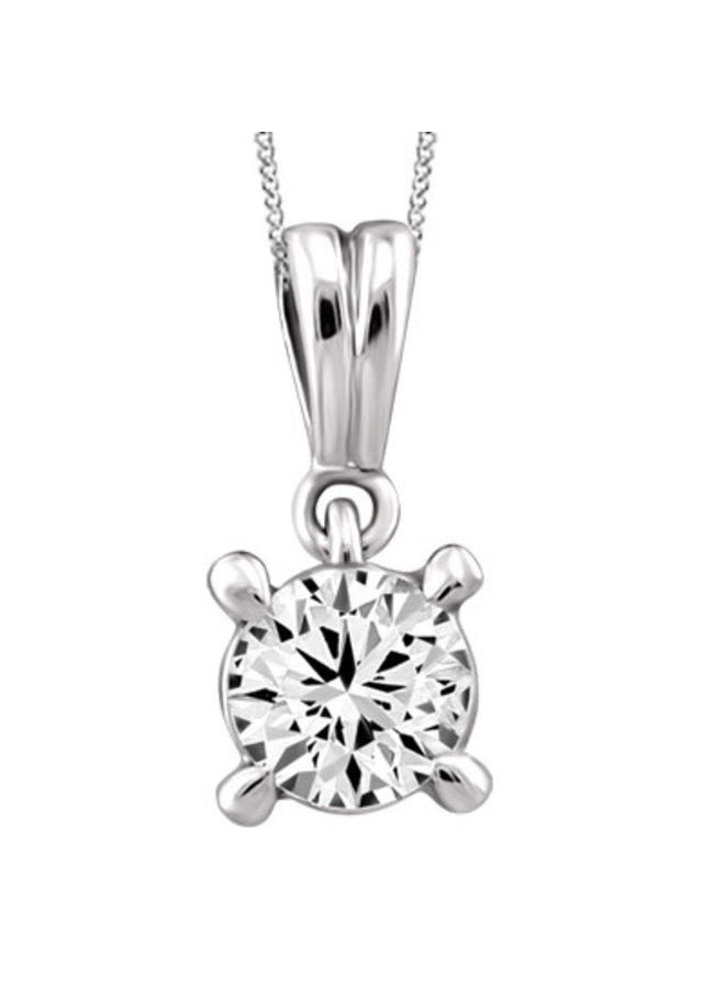 Ensemble or blanc 10k avec diamant 0.195 CT