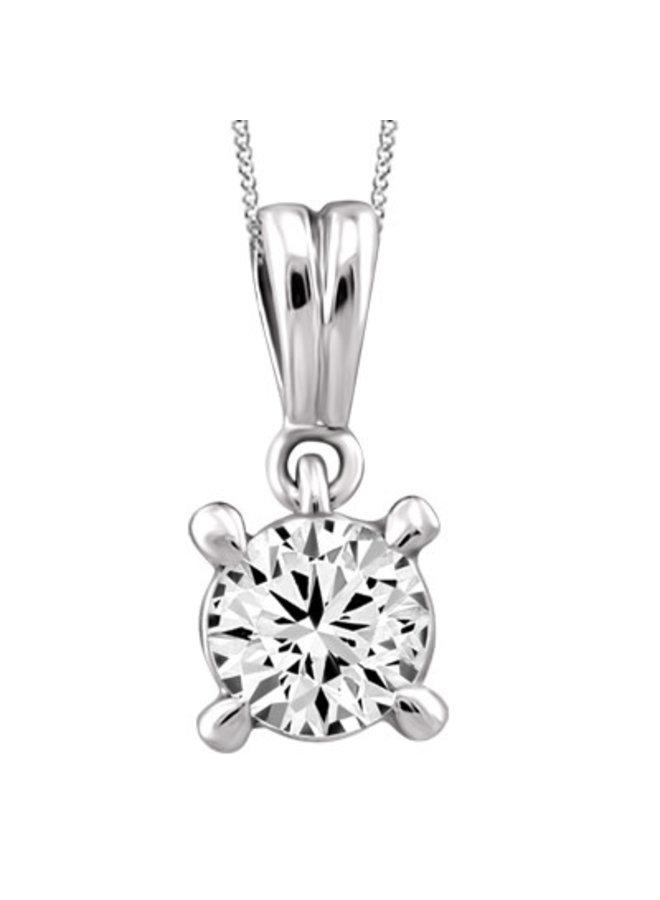 Ensemble or blanc 14k avec diamant 0.195 CT