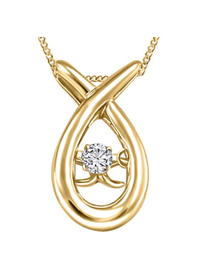 Ensemble or jaune 10k avec diamant