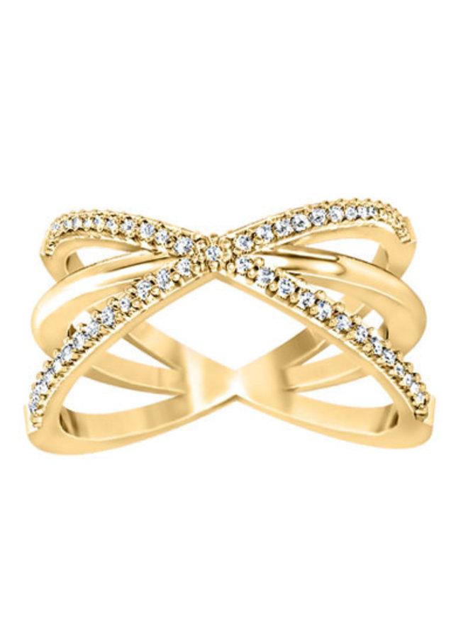 Bague or jaune 10k à diamants