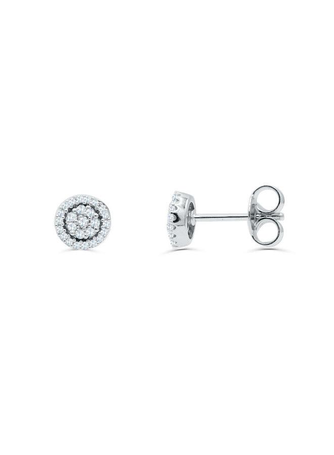 Boucle d'oreille 10k blanc diamant 0.25ct I GH