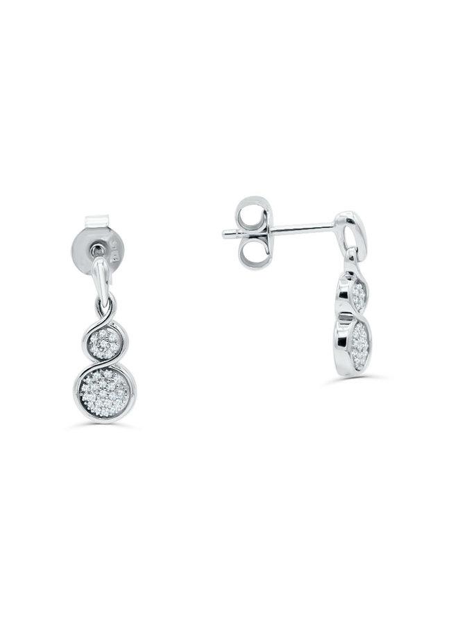 Boucle d'oreille 10k blanc diamant 0.09ct I GH