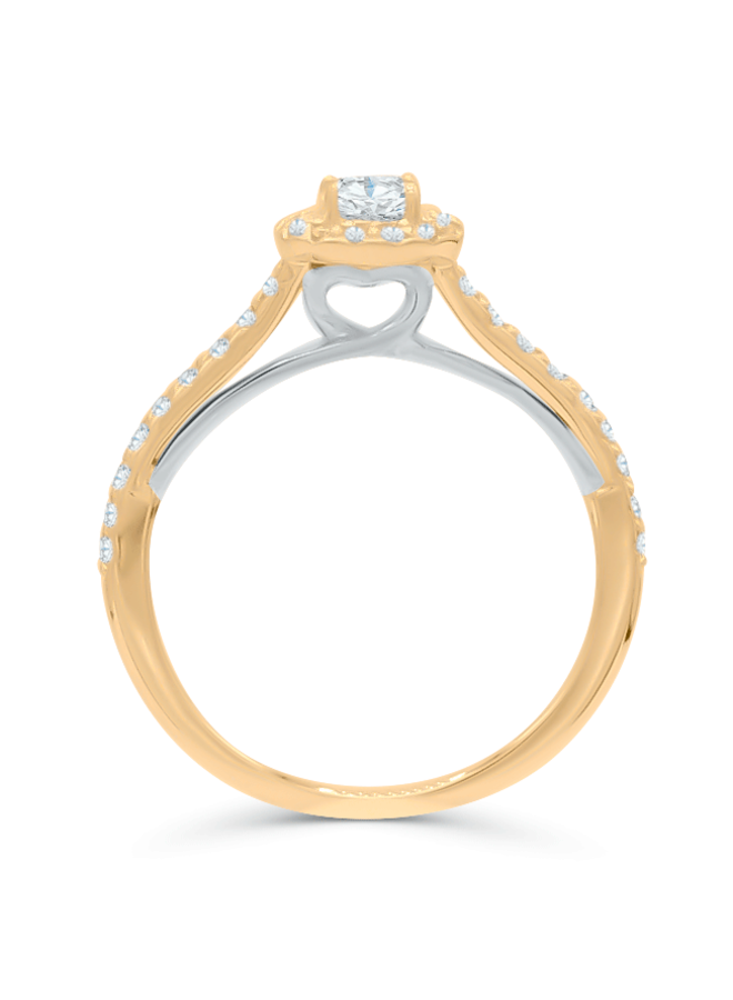 Bague 10k diamant 1x0.25 14x0.005 18x0.0075 ct I GH
