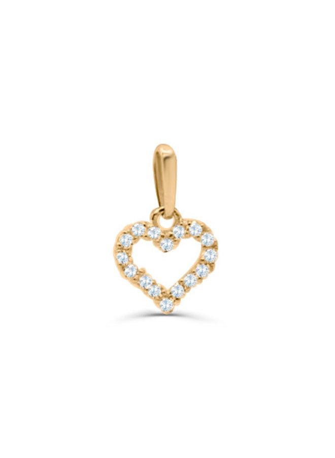 Pendentif 10k coeur zircon
