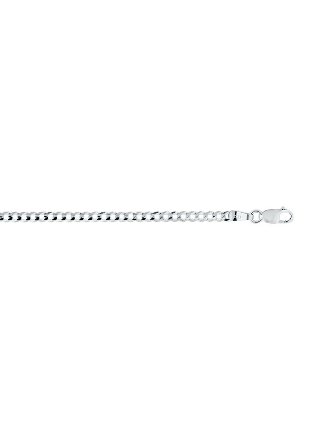 Bracelet 10k blanc gourmette 3mm