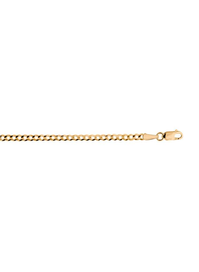Bracelet 10k jaune 7.5'' gourmette 3mm