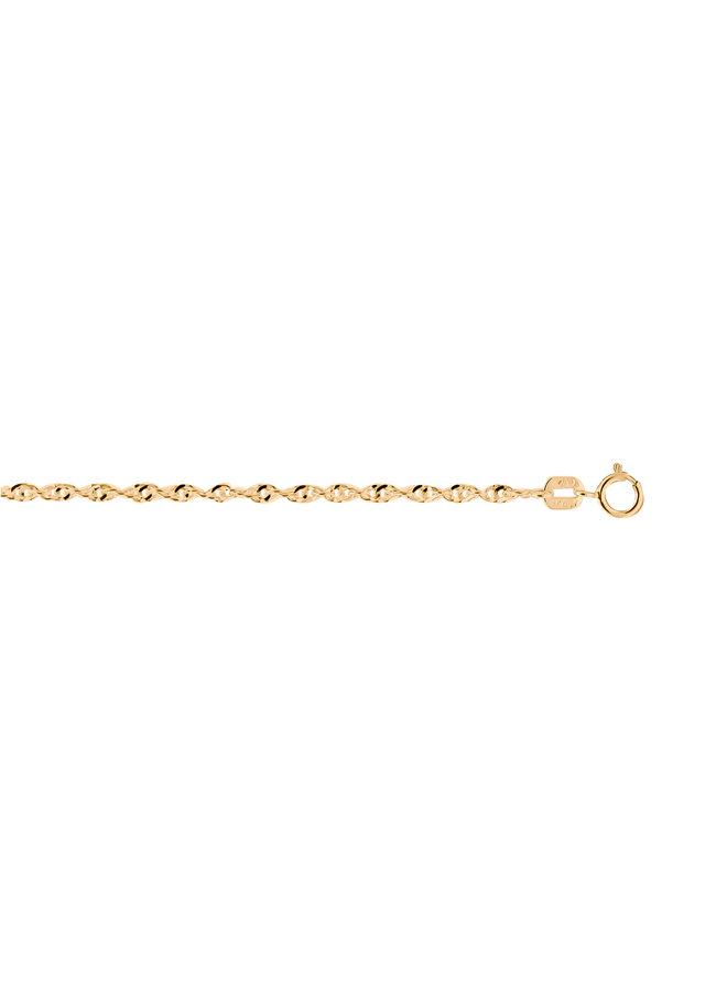 Bracelet 10k jaune 7'' singapour super twist