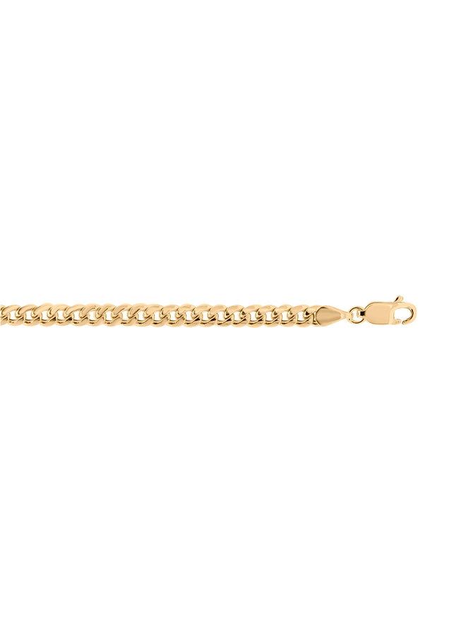 Bracelet 10k jaune 8.5'' miami curb 4mm