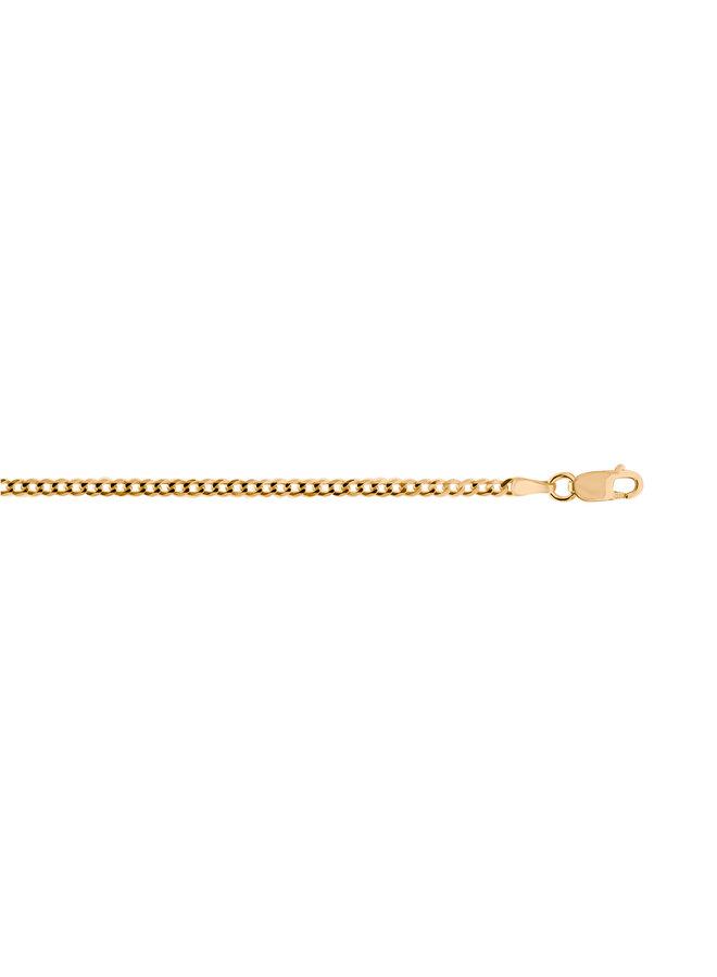 Bracelet 10k jaune 7'' gourmette 2mm