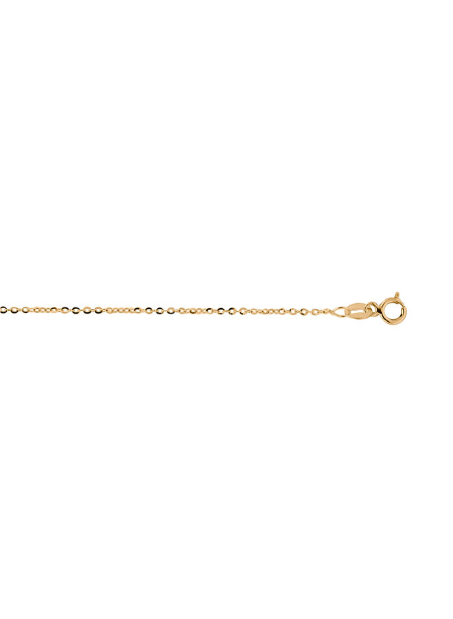 Bracelet 10k jaune 7'' rolo