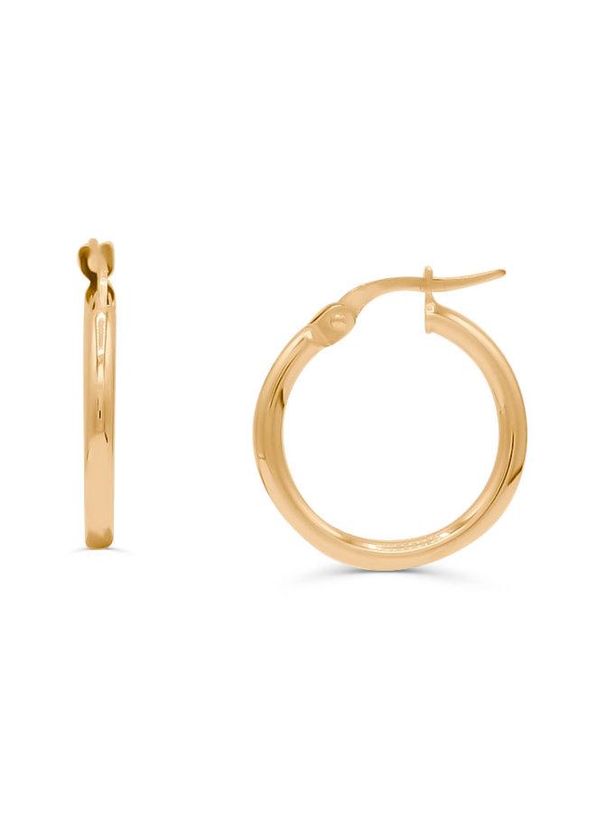 Boucle d'oreille anneau 10k jaune 15mm