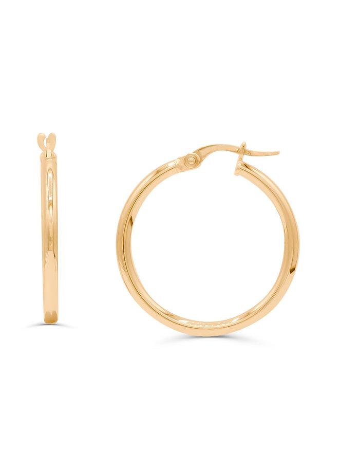 Boucles d'oreilles anneaux or jaune 10K 20 mm