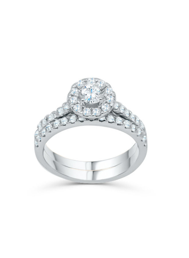 Set alliance 14k blanc diamant 1.00ct total I GH