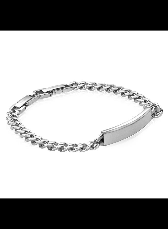 Bracelet acier identité 8'' gourmette