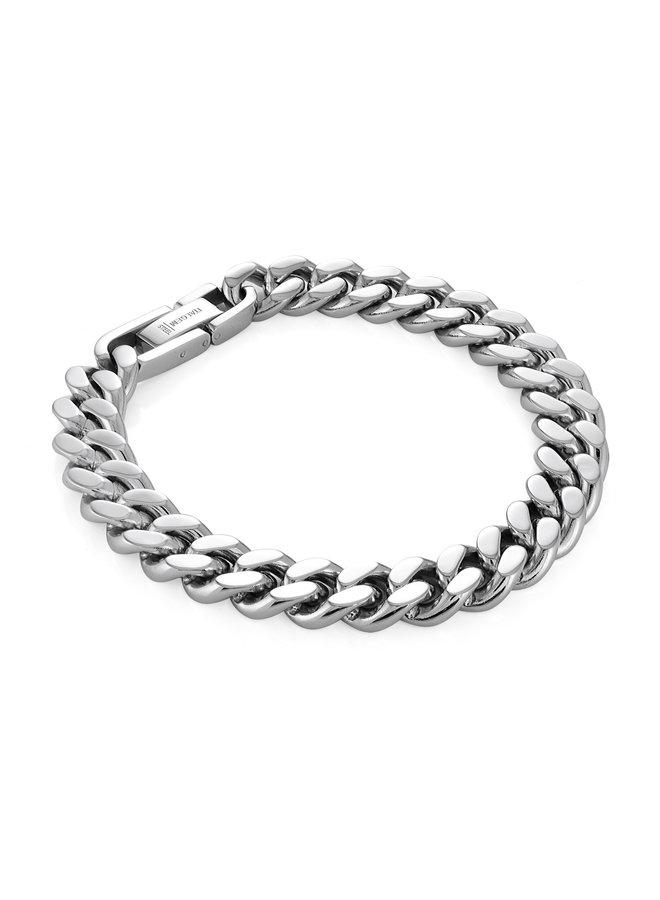 Bracelet acier 8'' gourmette 10mm