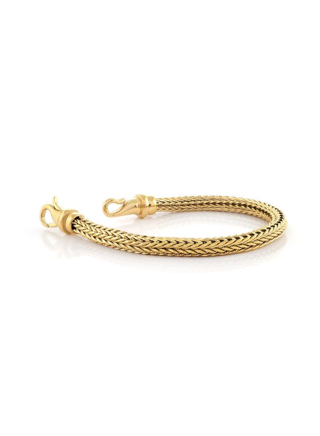 Bracelet acier doré 8.5'' meche