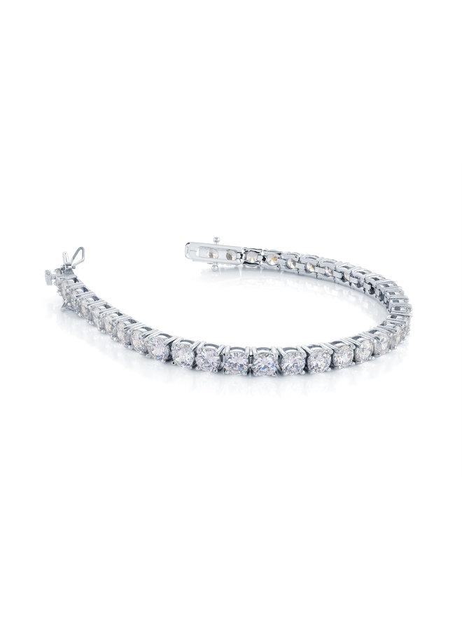 Bracelet acier tennis zircon 7''