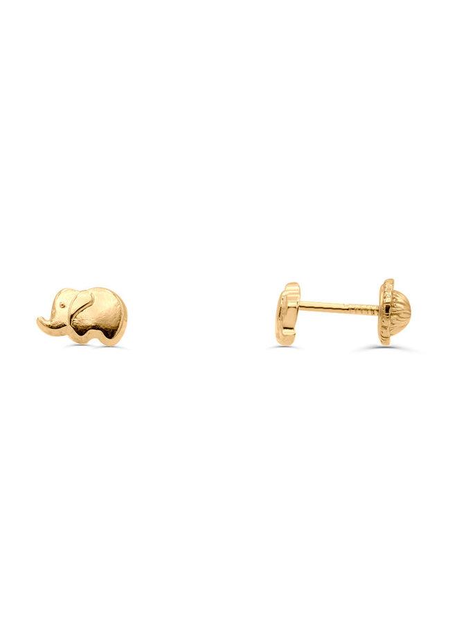 Boucle d'oreille enfant 10k éléphant