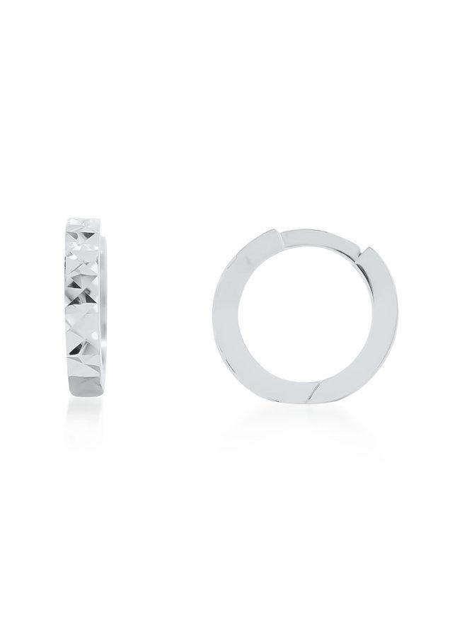 Huggies 10k blanc coupe diamant 11mm