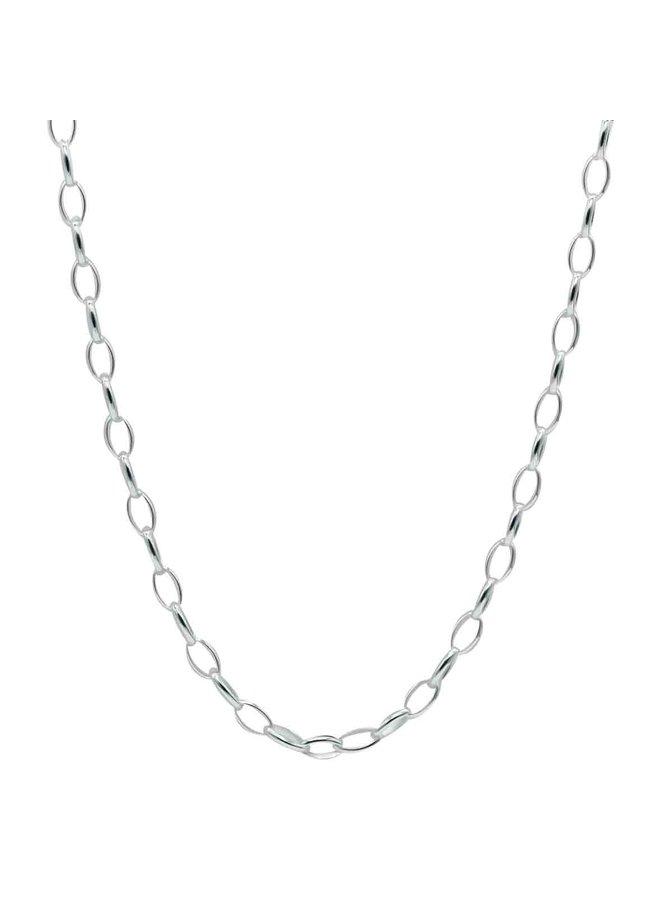 Chaine cheville .925 9.5'' cable