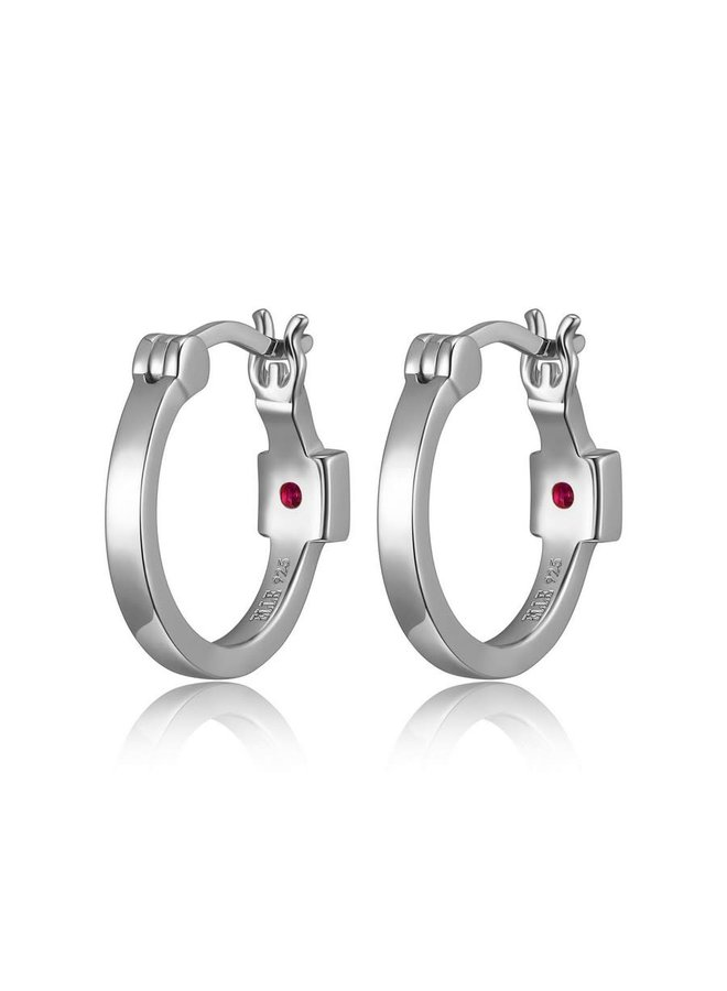 "SS ELLE ""HOOPS"" RHODIUM PLATED BIG"
