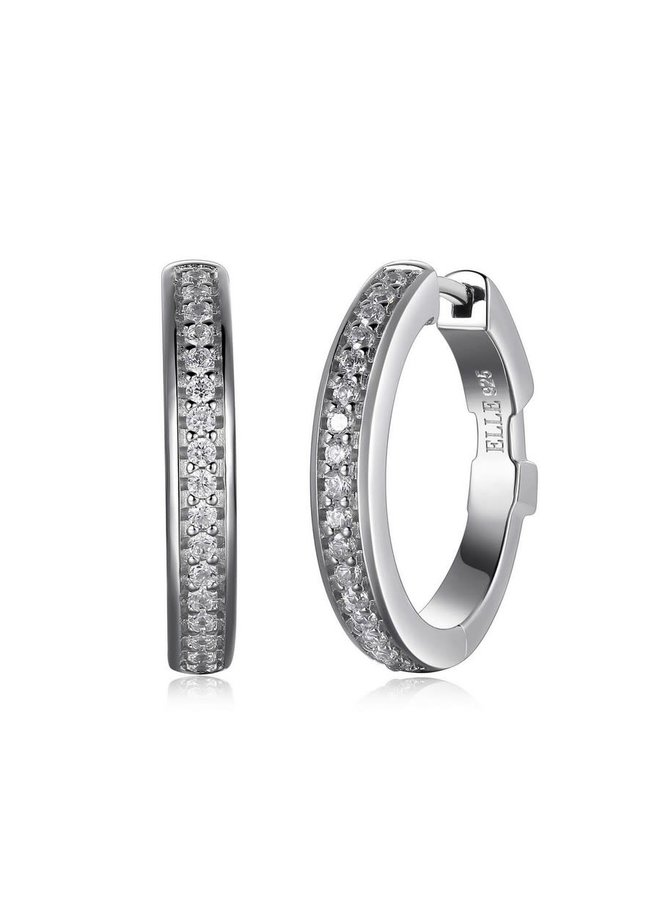 Boucle d'oreille anneau .925 zircon 21.5mm