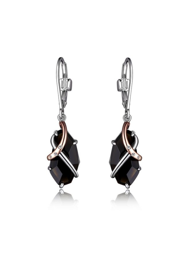 Sterling Silver Rhodium and Rose Gold