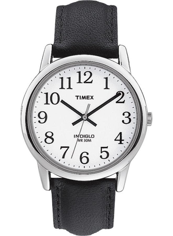 Timex homme indiglo cuir noir