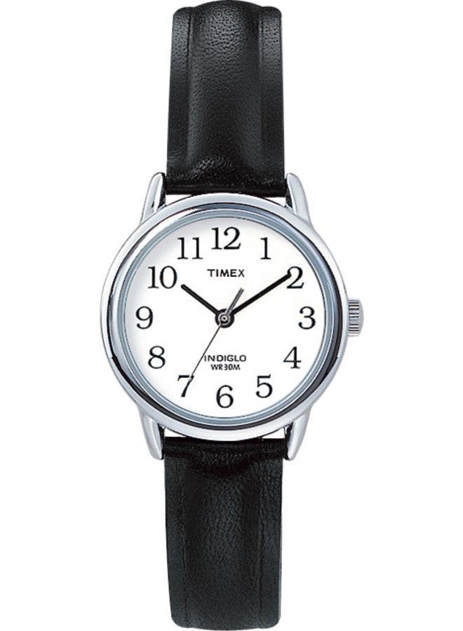 Timex dame indiglo cuir noir