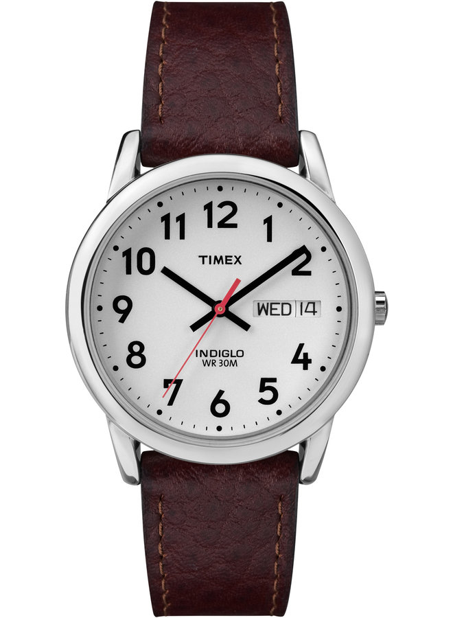 Timex homme indiglo jour date cuir brun