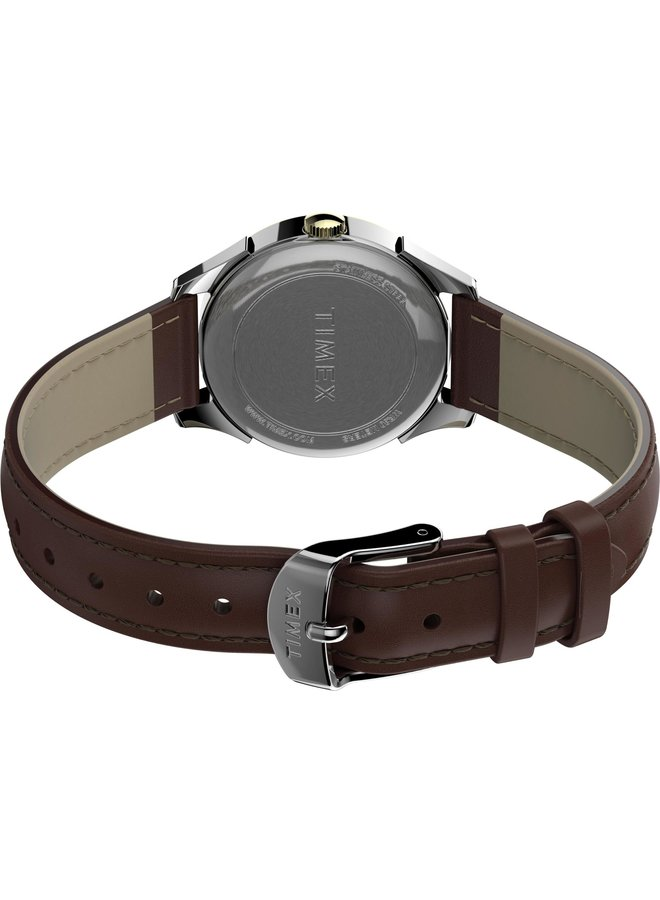 Timex dame 2Tons cuir brun