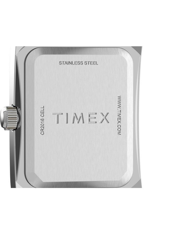 Timex dame  rectangulaire cuir noir